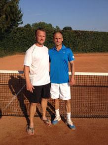 Finalist Stein und Sieger Jakunin