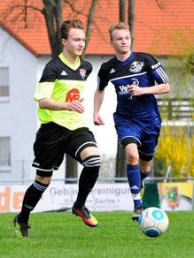 Torschütze zum 0:2: Der laufstarke Christoph Boyen (re.) - Bild: Andreas Feldl / FUPA