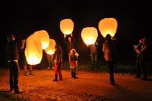 Soirée lanterne lors de la 1ère rencontre d'ECLAS autour du deuil