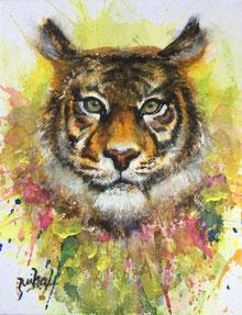 Mihal  「トラ」日本画