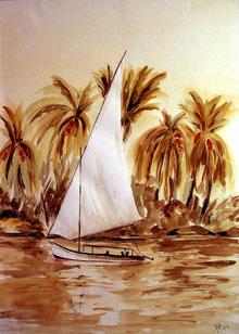 Segel auf dem Nil