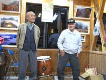 江若音頭の謡と和太鼓は地元のおじいちゃんたち(兄弟)に披露していただきました。