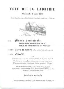 Programme 2010 - Fête de la Ladrerie