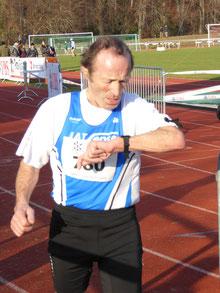 Der OK-Präsident des Sensler Frühlingslaufes beim Berlin Marathon 2017