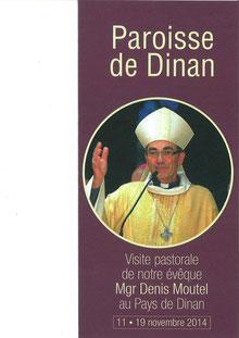 Visite pastorale zone de Dinan - Mgr Moutel