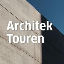 Ausschnitt einer Betonfassade als Titelbild für die Rubrik Architektouren