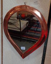 miroir cuivre rouge goutte