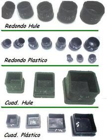 REGATONES DE HULE Y PLASTICO PARA SILLAS Y MESAS