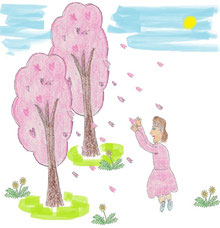 オッホッホ姫と春の花たち