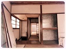 看板建築の2階和室