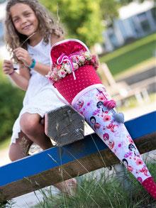 Bild: AnfängerGlück Blumenfee Schultüte am Boden stehend