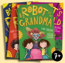 Robot Babysitter series book jackets