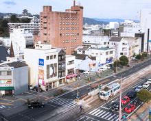 オリエントホテル高知からの撮影イメージ