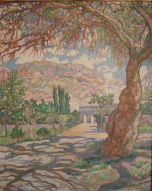 paysage Amérique su Sud 1925 95x76 huile sur toile André Aaron Blils