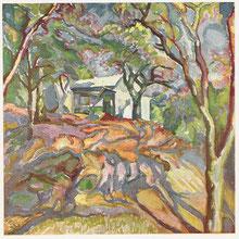 Reverberation 1916 huile sur toile André Aaron Blils