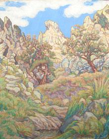 Cordillère des Andes 95x75 huile sur toile André Aaron Blils