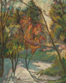 paysage1 1915 41x33 huile sur toile André Aaron Blils