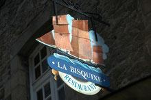 enseigne du restaurant la Bisquine à saint-malo