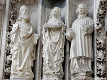 Figurengruppe Tympanon - Regensburger Dom