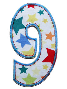 Geburtstagszahl Zahlenbügelbild Zahl patch
