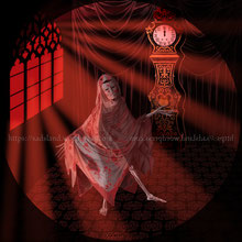 """""""Le masque de la mort rouge"""" (The Masque of the Red Death), nouvelle d'Edgar Allan Poe publiée en 1842 - Cliquer pour agrandir"""