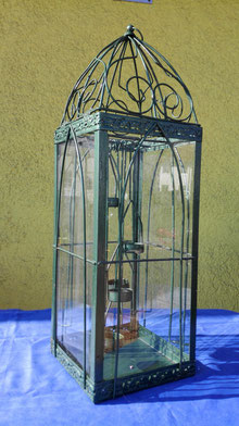 Windlicht für Teelichter: 64 cm, hoch