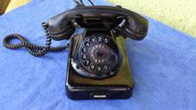 Telefon schwarz antik
