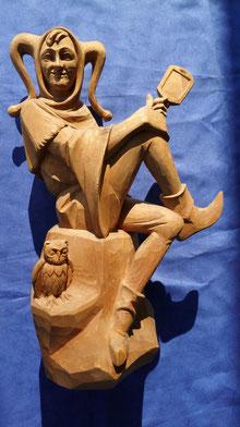 Eulenspiegel Holzschnitzerei