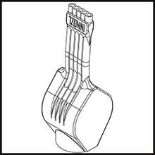 Schleifdüse Breite 8mm  (STL14-56-8-5-1.6-TI)