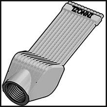 Schleifdüse Breite 25mm  (STL38-25-5-2,0-TI)