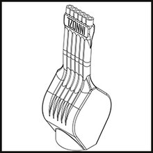 Schleifdüse Breite 10mm  (STL14-56-10-5-1.6-TI)