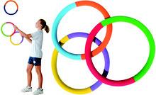 Jeu de 3 anneaux rythmiques en mousse à lancer pour les activités de gymnastique rythmique. Lot de 3 anneaux rythmiques en mousse à acheter pas cher et de qualité.