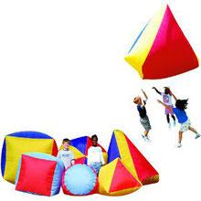 Formes gonflables géantes et coopératives enfant. Matériel de jeux de coopération à acheter pas cher.