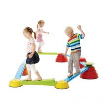 Kit complet build'n'balance enfant d'équilibre au meilleur prix. Acheter le kit set complet d'équilibre build n balance pour jeux de motricité enfants. Ici kit complet 6 sommets et 3 planches.