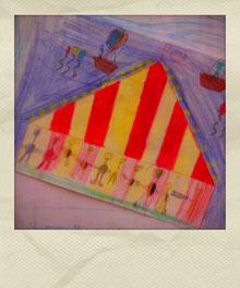 Grundschule Wiescheid Kinderzeichnung Zirkus