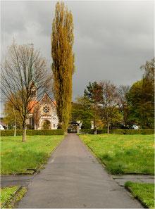 Kirche St. Sebastian, Sicht vom alten Friedhof