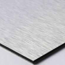 Alu-Verbundplatte einseitig silber