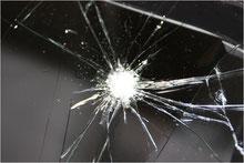 Steinschlag Glas