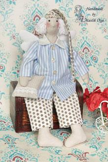 кукла тильда сплюшка, сонный ангел на подарок. Маслик Ольга