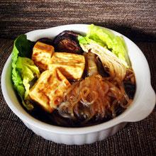 Shirataki con Salsa Sukiyaki (vegano)