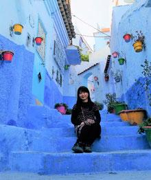 モロッコ・シャウエンにて。実加