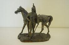 restauration d une statue militaire en régule
