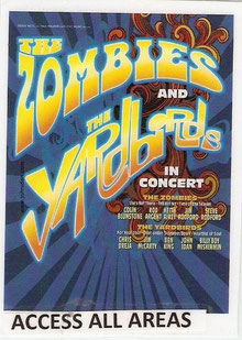Stage Pass from the Yardbirds & Zombies Tour 2008