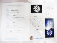 ダイヤのグレードが記載された鑑定書