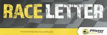 Rennfahrer Dennis Bröker Bad Salzuflen steht im Race Letter von Pfister-Racing