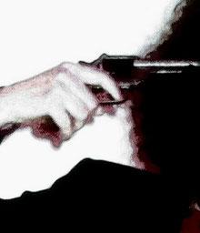 Der Revolver.  Bildbearbeitung: Nicole Kräbber