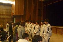 2011年グリーンズアウォーズ-ユース卒業式にて(たぶん右から5人目)