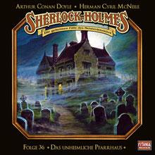CD Cover Sherlock Holmes Das unheimliche Pfarrhaus