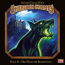 CD Cover Sherlock Holmes Hund von Baskerville