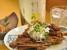 豊橋の居酒屋さん名物めかじきのハモニカ煮
